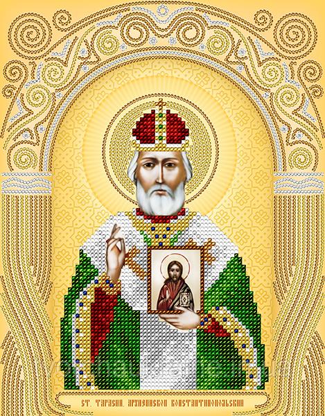 Схема на ткани для вышивания бисером Ст. Тарасий Архиепископ Константинопольский. А-строчка