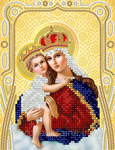 Схема на ткани для вышивания бисером Богородица  с Младенцем
