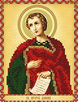 Схема на ткани для вышивания бисером Св.Пророк Даниил