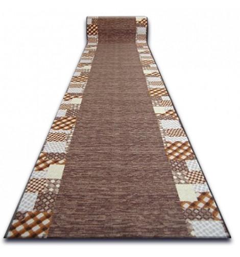 Ковровая дорожка Лущув Caro 67x100 см коричневая прямоугольная (Q579)