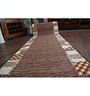Ковровая дорожка Лущув Caro 67x100 см коричневая прямоугольная (Q579), фото 2
