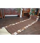 Ковровая дорожка Лущув Caro 67x100 см коричневая прямоугольная (Q579), фото 3