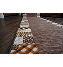 Ковровая дорожка Лущув Caro 67x100 см коричневая прямоугольная (Q579), фото 4