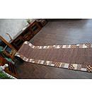 Ковровая дорожка Лущув Caro 67x100 см коричневая прямоугольная (Q579), фото 5