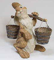 """Садовое кашпо """"Кролик с коромыслом"""" (Sealmark) GG-4716 LG"""