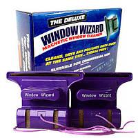 Магнитная щетка для мытья окон с двух сторон  Window Wizard