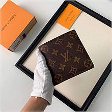 Кошелек Луи Витон канва Monogram кожаная реплика