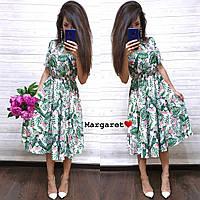 Летнее миди платье с цветочным принтом, фото 1