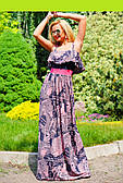 Сукня жіноча в підлогу - газетний принт