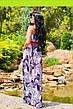Сукня жіноча в підлогу - газетний принт, фото 2