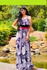 Сукня жіноча в підлогу - газетний принт, фото 3