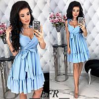 Женское модное летнее платье. Цвета: розовый, бордовый, голубой (4001), фото 1