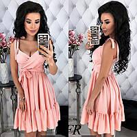 Женское модное летнее платье (4001) цвета: розовый, бордовый, голубой ., фото 1