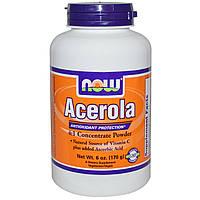 Ацерола (Acerola) и витамин С Now Foods 170 гр
