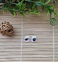 Глазки с подвижным зрачком и ресничками 12 мм