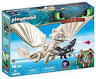 Як приручити дракона Денна фурія Playmobil How to Train Your Dragon III Light Fury with Baby Dragon