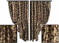 Ткань для штор блэкаут завиток № 10 (двухсторонняя)