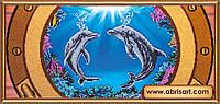 """Набор для вышивки бисером """"Дельфины"""""""