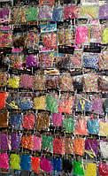 Набор резинок для плетения 200шт с крючком и клипсами белыми -деш-