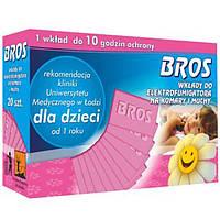 Сменные пластины  Bros от комаров для детей