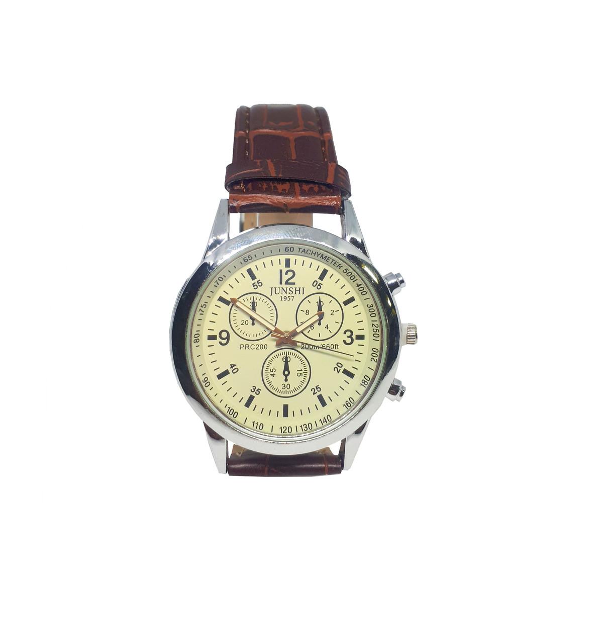 Часы Junshi мужские кварцевые  Коричневый