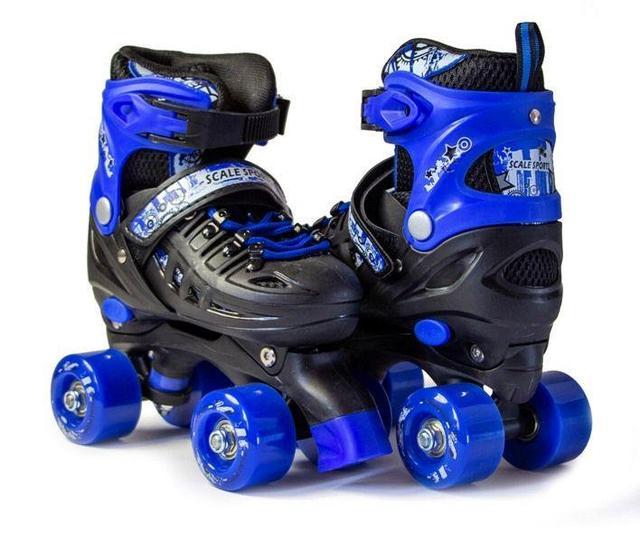 Розсувні ролики-квади Scale Sports сині, розміри 29-33, 34-38