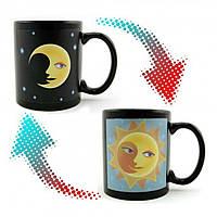 Чашка хамелеон Солнце и Луна (день ночь)