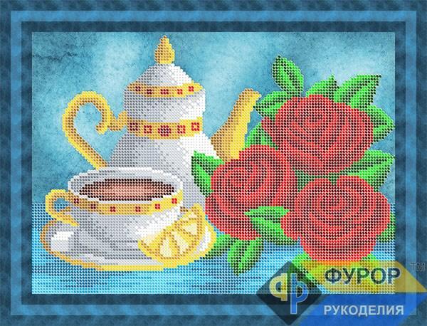 Схема для вышивки бисером картины Чайный натюрморт (НБч4-157)