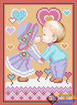 Схема для вышивки бисером картины Детская любовь (ДБч5-004)