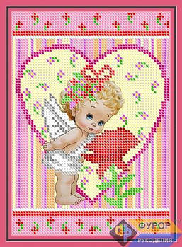 Схема для вышивки бисером картины Ангел с розой (ДБч5-008)