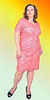 Женское платье модного кроя большого размера