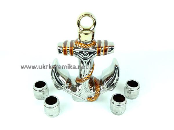Якорь серебряный - подарочный набор для спиртного
