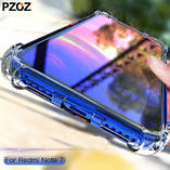 Комплект прозрачный TPU чехол PZOZ + Cтекло для Xiaomi Redmi Note 7 / Note 7 Pro /, фото 5