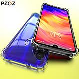 Комплект прозрачный TPU чехол PZOZ + Cтекло для Xiaomi Redmi Note 7 / Note 7 Pro /, фото 3