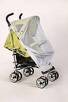 Велика 120х60 антимоскітна сітка від комах універсальна на дитячу коляску прогулянку всіх моделей 3966