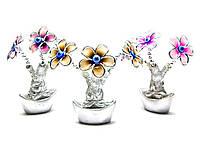 Цветы на чаше богатства (13х9х5 см)(A808)