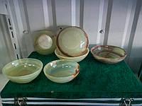 Пиалы средние салатные из камня-оникс