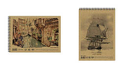 Альбом для рисования на спирали. KRAFT, 40 л. 120 г/м A3, AR3740 /5/