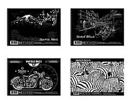 Альбом для рисования спираль., 30 арк. 120 г/м A4, черная бумага,ціна за 1шт.  BL4130 /5/