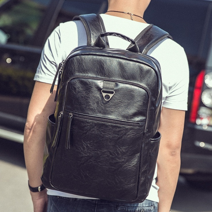 Большой мужской рюкзак кожа