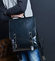 Кожаный мужской ретро рюкзак