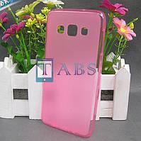 Чехол силиконовый TPU матовый Samsung Galaxy A3 A300H розовый