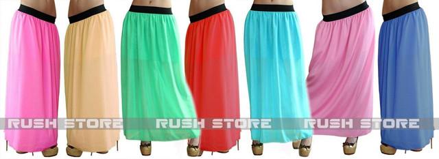 Купить шифоновую юбку в пол