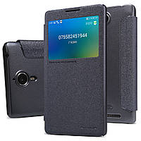 Кожаный чехол книжка Nillkin Sparkle для Lenovo K80 чёрный