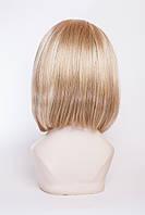 Искусственный парик на повязке №1,цвет мелирование светло-русый с белым