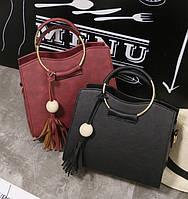 Женская маленькая сумка с брелком, фото 1
