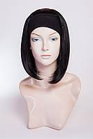 Искусственный парик на повязке №1,цвет черный