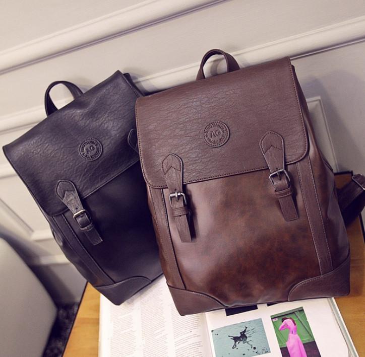 Винтажный мужской рюкзак ПУ кожа