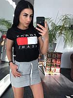Костюм повседневный футболка+юбка, фото 1