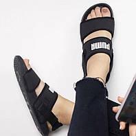 Hyuna x Puma Leadcat YLM Lite Sandal Black | сандалии / босоножки женские; черные; летние